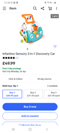 Infantino 3-in-1 Discovery car / £49.99 on ebay