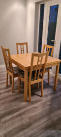 Ikea extendable Table with 4 chairs, 2 coffee tables & 2 shelves