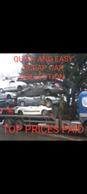 WE BUY SCRAP CARS FOE CASH