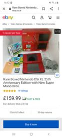 Limited edition super Mario bros 25th anniversary DSi XL/cash or swap