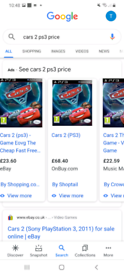 Cars 2 / ps3 game/ worth money only want £10