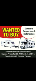 Caravans and motorhomes wanted