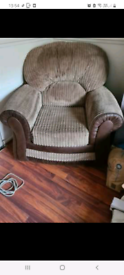 3 seater sofa and 2 matching arm chairs