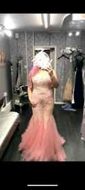 Gorgeous coral pink prom dress