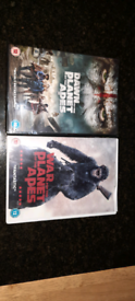 2 dvds planet of the apes and dawn of the planet of the apes