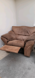 Brown single seat recliner chair
