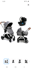 Panorama XT by babylo 2 n 1 pushchair with car seat and baby swing