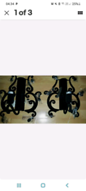 Black velvet chandelier style wall lights from Pagazzi.