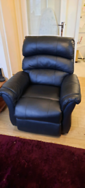 Warwick Leather Recliner arm chair