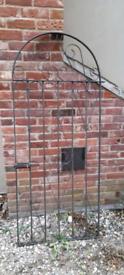 Wrought iron ornate gate