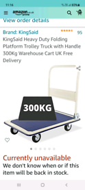 300kg Warehouse pull along truck