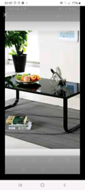 Black glass retro coffee table CASH ONLY!!
