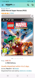 lego marvel superheroes ps3 game / new worth £40 on amazon