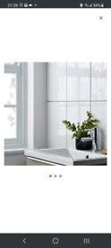 White Gloss Ceramic Tiles x5 pack