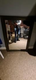 Large brown mirror
