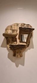 Driftwood shelf tree
