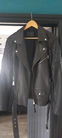 All saints boyson leather jacket medium