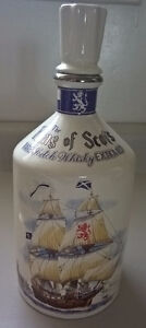 "Rare Vintage The King of Scots Scotch Whisky Decanter ""Empty"""