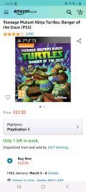 PS3 game/Teenage Mutant Ninja Turtles:Danger of Ooze/Mint/cash or swap