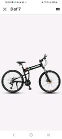 Adult FRAGS® Montague MTB bike - folding mtb bike for easy transport.