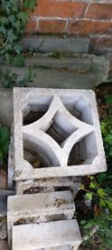 Concrete screen blocks x 8
