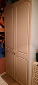 Double fitted wardrobe with shelves