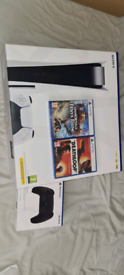 PS5 Disk BUNDLE + CONTROLLER + 2 Games + New and sealed
