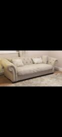 Next grey 4 seater sofa