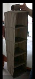 Drawer canvas wardrobe hanging clothes storage shelves organiser