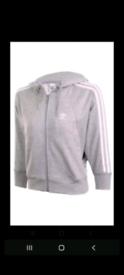 Adidas grey crop hoodie 40th Anniversary.