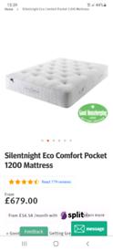 Superking silentnight mattress