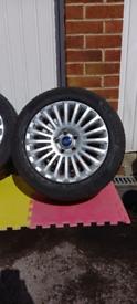 """Mk2 focus titanium 16"""" alloy wheels"""