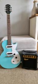 Epiphone Les Paul SL Guitar and amp