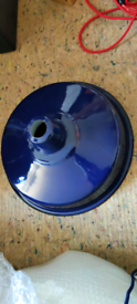 Large Blue Shade industrial factory metal