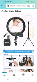 18 inch led light with tripod stand