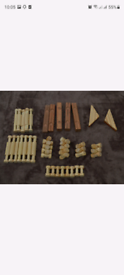 Wooden magnetic pieces