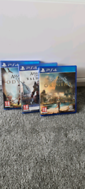 Assassin's Creed Origins, Valhalla and Odyssey for PS4