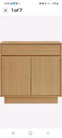 Oak effect small sideboard