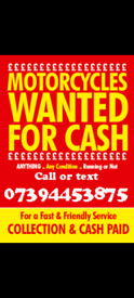 💥 WANTED MOTORBIKES SCOOTERS 💥
