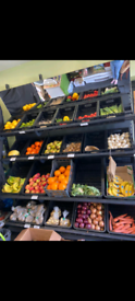Fruit and veg stand