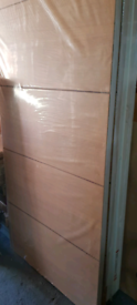 Brand new wooden doors