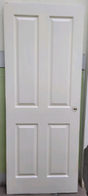 White kitchen fire door with a small blemish