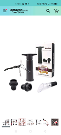 Brand New Wine Bottle Stoppers, Wine Saver Pump with 2 Vacuum Stoppers