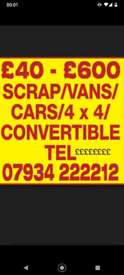 Cars Vans and trucks wanted in Huddersfield