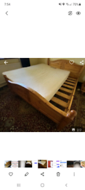 Solid Pine kingsize Bed in excellent condition with mattress