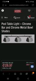 Chrome Pool Table Lights