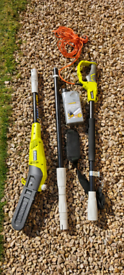 Ryobi Electric Pole Saw, Lopper, Chainsaw