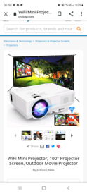 Jinhoo projector and pull up screen