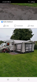 Air awning for motorho.e
