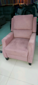 Pink velvet Armchair free local delivery